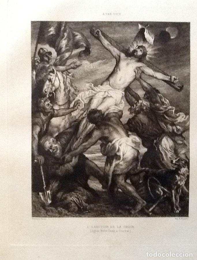 Arte: LITOGRAFIA. A VAN DYCK. CRISTO EN LA CRUZ...ENVIO CERTIFICADO INCLUIDO. - Foto 2 - 151514570