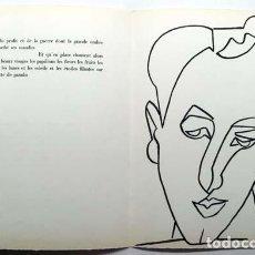 Arte: FRANÇOISE GILOT : LITOGRAFÍA PERTENECIENTE AL LIBRO DE ARTISTA ´PAGES D'AMOUR´ (1951) (PICASSO). Lote 151562118