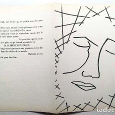 Arte: FRANÇOISE GILOT : LITOGRAFÍA PERTENECIENTE AL LIBRO DE ARTISTA ´PAGES D'AMOUR´ (1951) (PICASSO). Lote 151562162