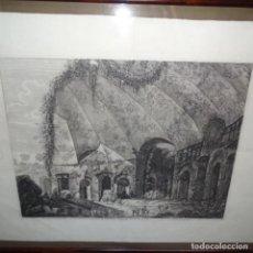 Arte: GRABADO DE LUIGI ROSSINI(RAVEROSE 1790-ROMA 1857)ROMA 1820.CON CERTIFICADO.. Lote 151589026