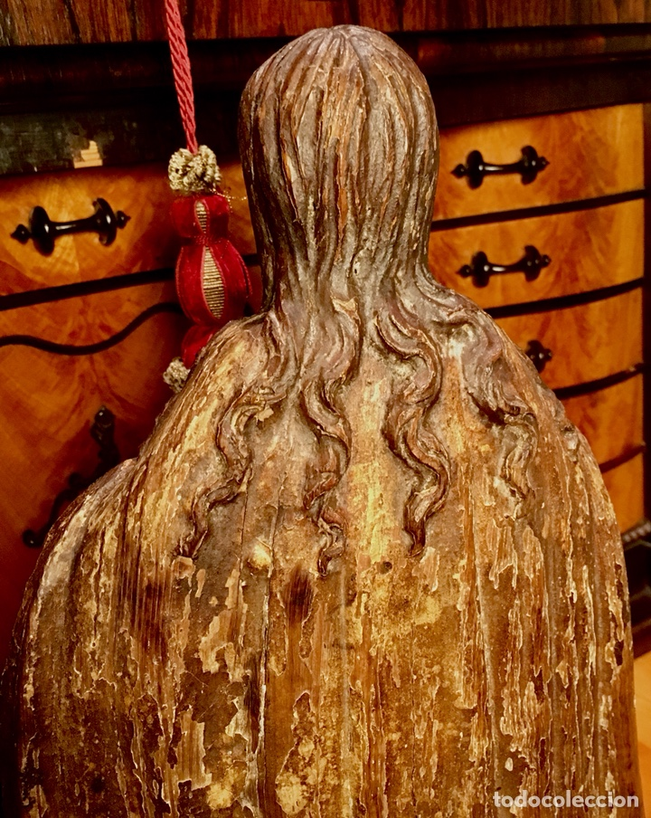 Arte: Talla en madera policromada. Santa Teresa de Avila. S. XVII 43cm - Foto 3 - 151650314