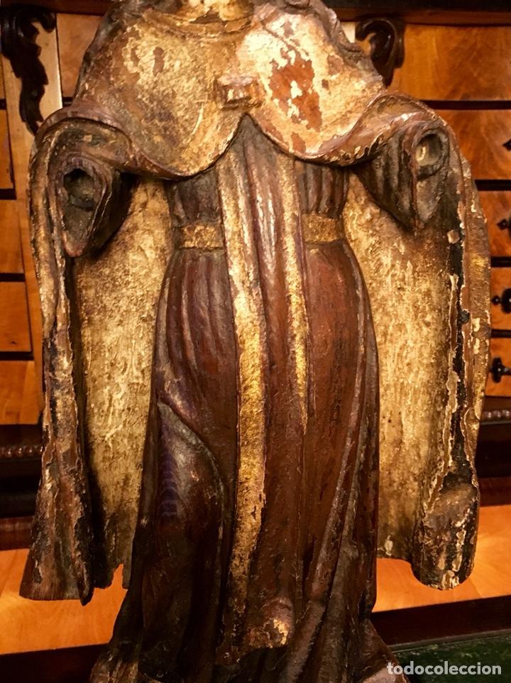 Arte: Talla en madera policromada. Santa Teresa de Avila. S. XVII 43cm - Foto 4 - 151650314