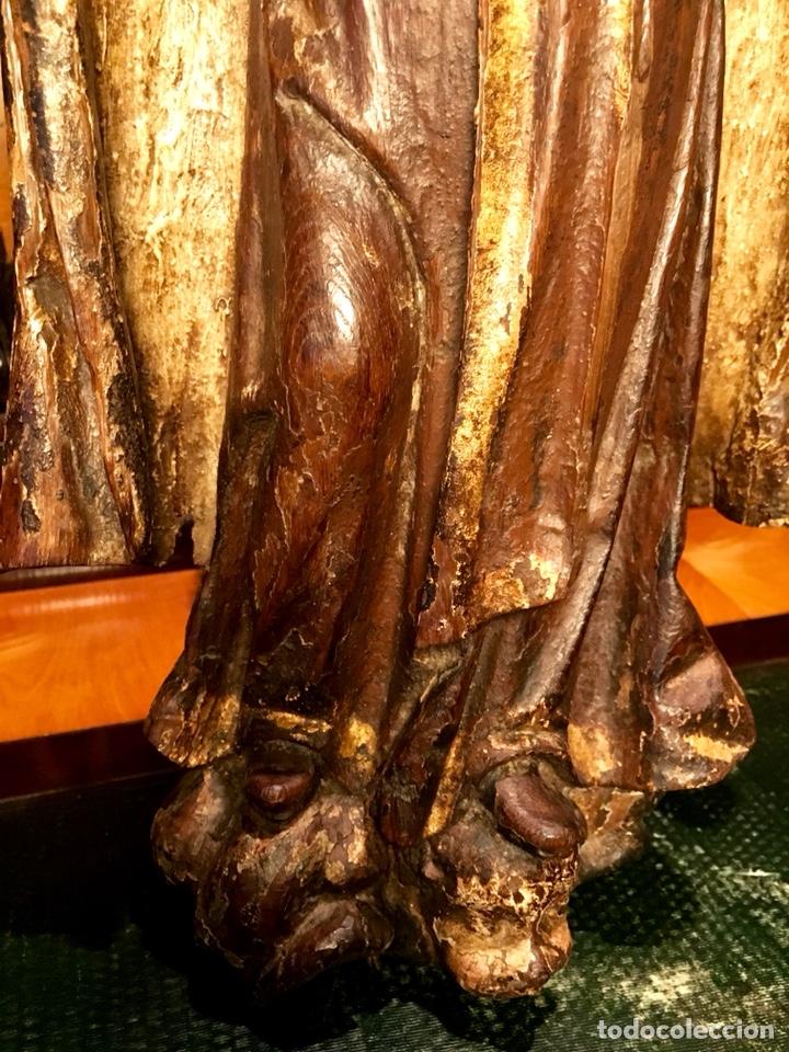 Arte: Talla en madera policromada. Santa Teresa de Avila. S. XVII 43cm - Foto 5 - 151650314