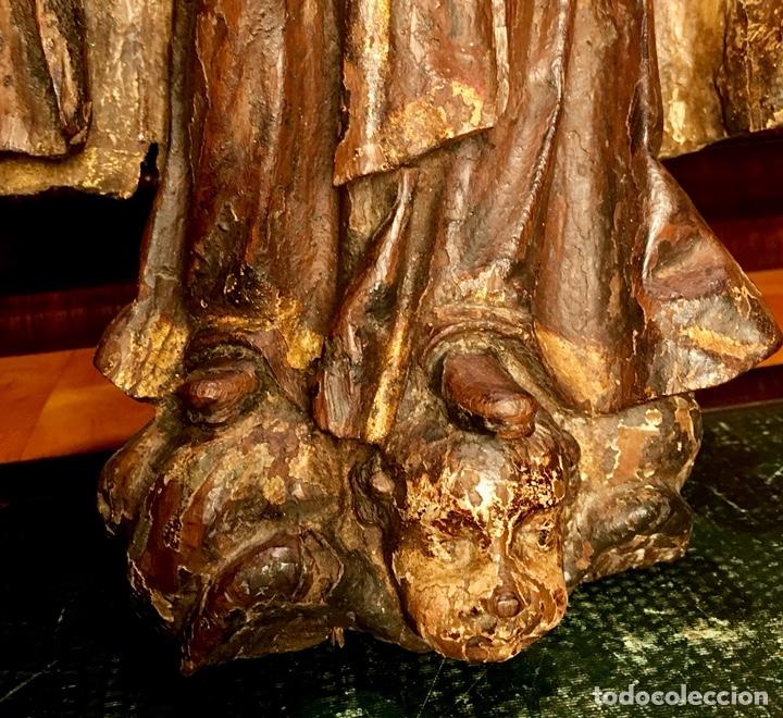 Arte: Talla en madera policromada. Santa Teresa de Avila. S. XVII 43cm - Foto 6 - 151650314