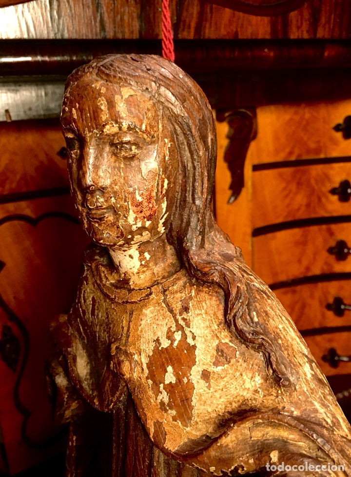 Arte: Talla en madera policromada. Santa Teresa de Avila. S. XVII 43cm - Foto 7 - 151650314