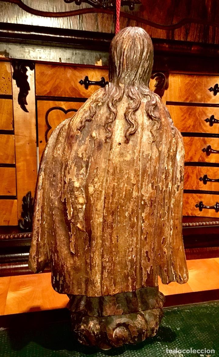 Arte: Talla en madera policromada. Santa Teresa de Avila. S. XVII 43cm - Foto 8 - 151650314