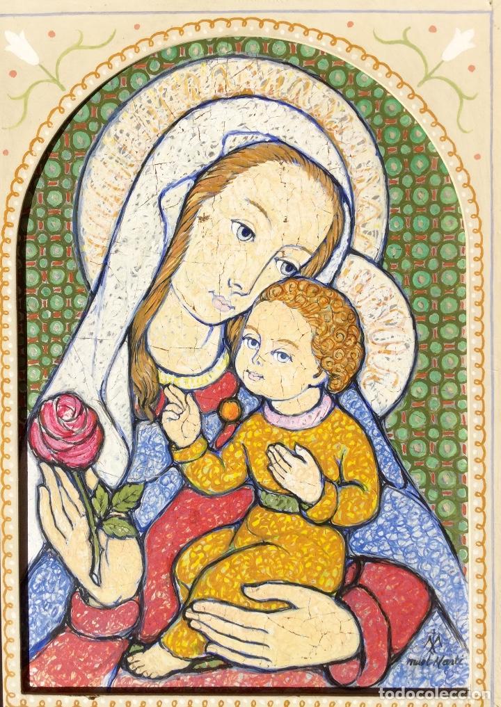 Arte: JOSÉ MARÍA NUET MARTÍ (Barcelona 1914-1998) Obra de temática religiosa del pintor y escultor - Foto 2 - 151656154
