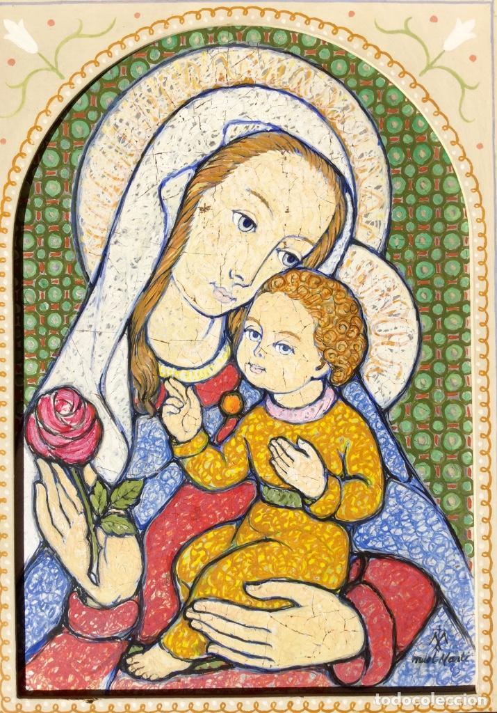 Arte: JOSÉ MARÍA NUET MARTÍ (Barcelona 1914-1998) Obra de temática religiosa del pintor y escultor - Foto 3 - 151656154