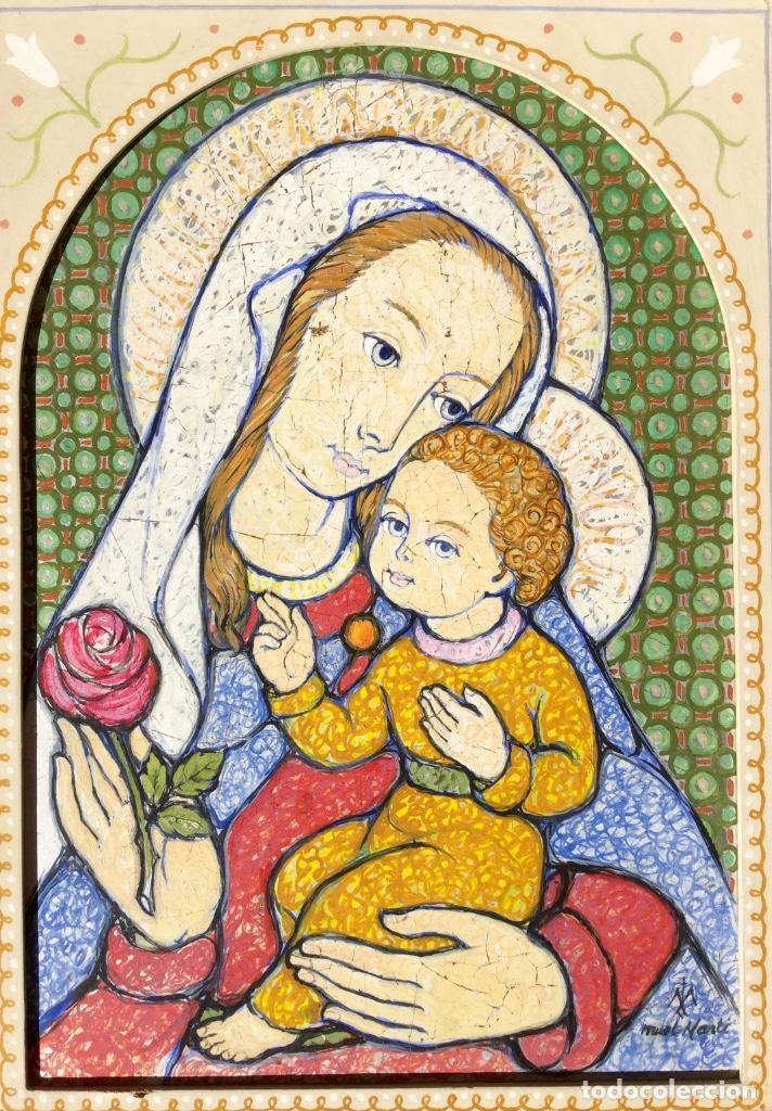 Arte: JOSÉ MARÍA NUET MARTÍ (Barcelona 1914-1998) Obra de temática religiosa del pintor y escultor - Foto 4 - 151656154