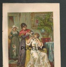 Arte: ANTIGUA LITOGRAFIA DE A. FORUNY - MADRID - MEDIDAS 21,30 POR 14,30 - RESTOS DE HUMEDAD EN HOJA. Lote 151669262