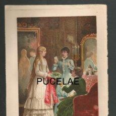 Arte: ANTIGUA LITOGRAFIA DE A. FORUNY - MADRID - MEDIDAS 21,30 POR 14,30 RESTOS DE HUMEDAD EN HOJA. Lote 151669434