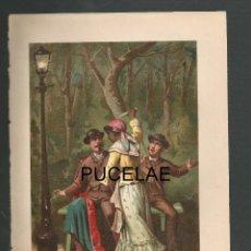 Arte: ANTIGUA LITOGRAFIA DE A. FORUNY - MADRID - MEDIDAS 21,30 POR 14,30 - RESTOS DE HUMEDAD EN HOJA. Lote 151669482