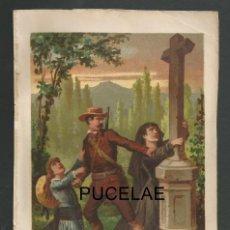 Arte: ANTIGUA LITOGRAFIA DE A. FORUNY - MADRID - MEDIDAS 21,30 POR 14,30 - RESTOS DE HUMEDAD EN HOJA. Lote 151669534