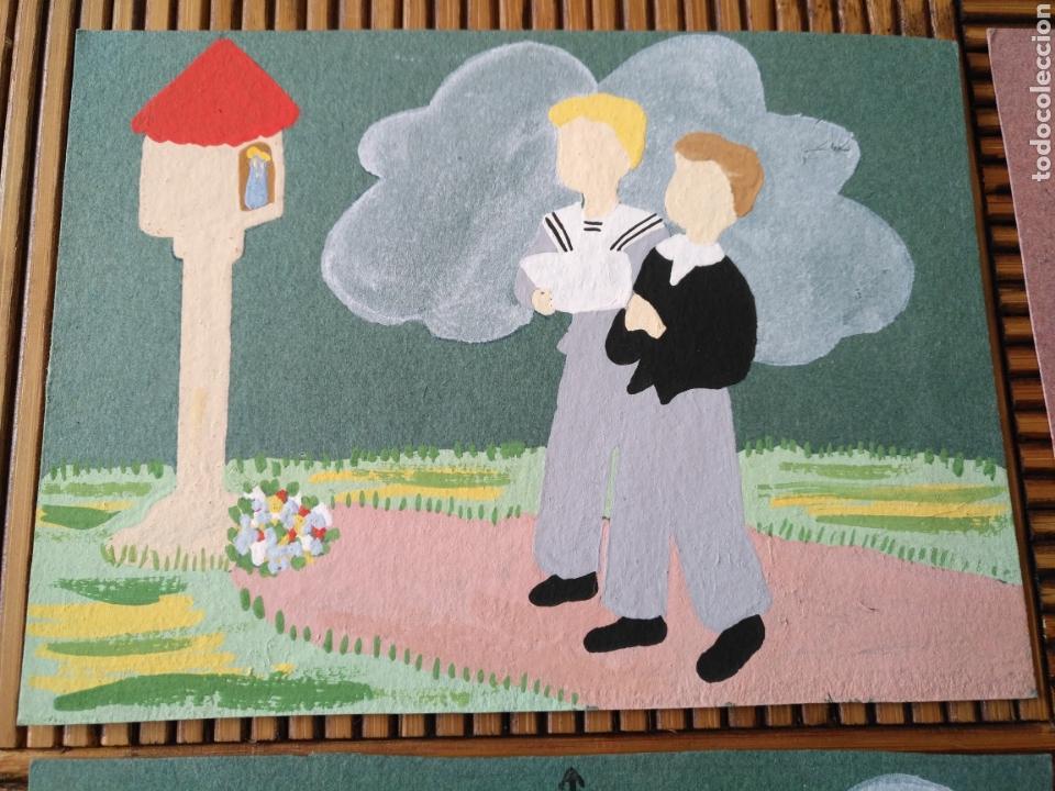 Arte: Arte. 4 Postal pintada a mano. 15cm x 11cm - Foto 2 - 151705178