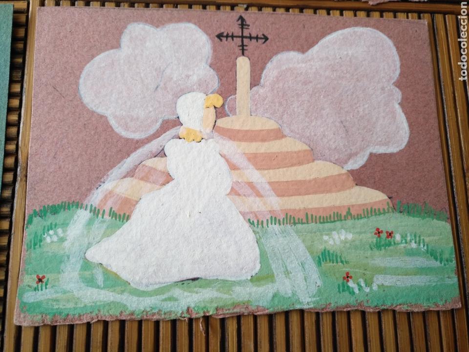 Arte: Arte. 4 Postal pintada a mano. 15cm x 11cm - Foto 4 - 151705178
