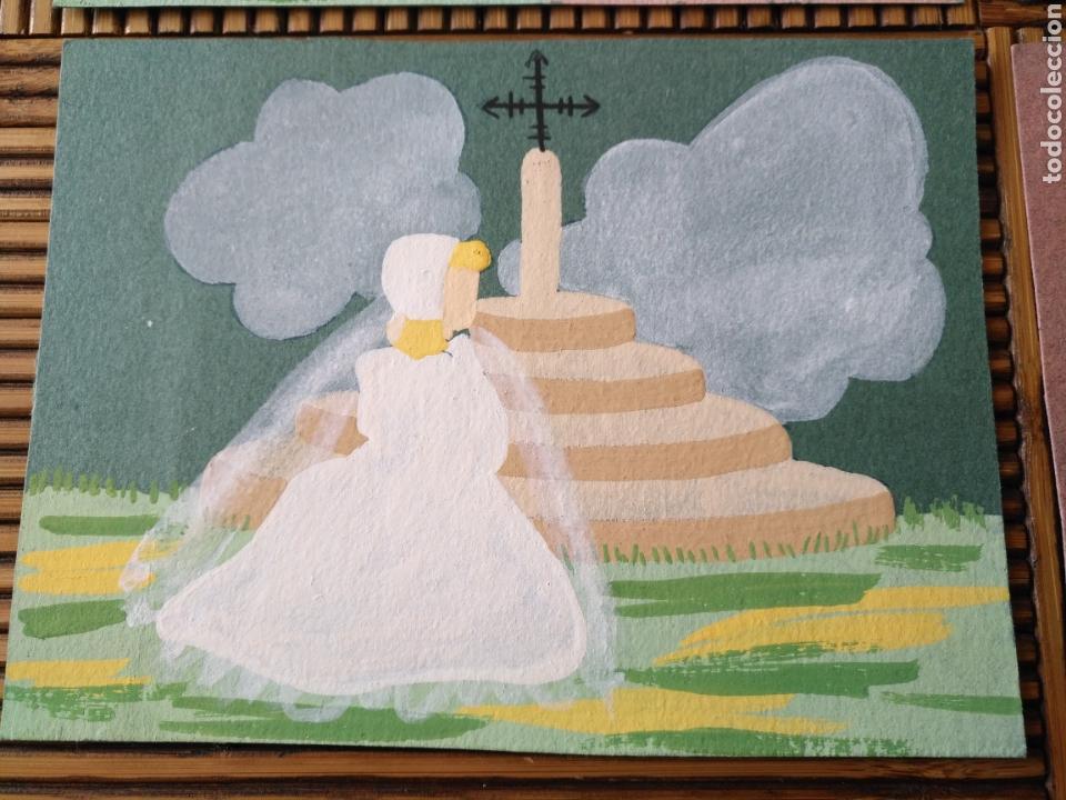 Arte: Arte. 4 Postal pintada a mano. 15cm x 11cm - Foto 5 - 151705178