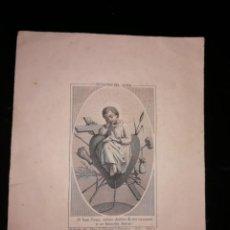 Arte: NIÑO JESUS MEDITANDO SOBRE LOS INSTRUMENTOS DE LA PASIÓN. IMP. BORDAS. BARCELONA. GRABADO DE BUXÓ. Lote 151720854