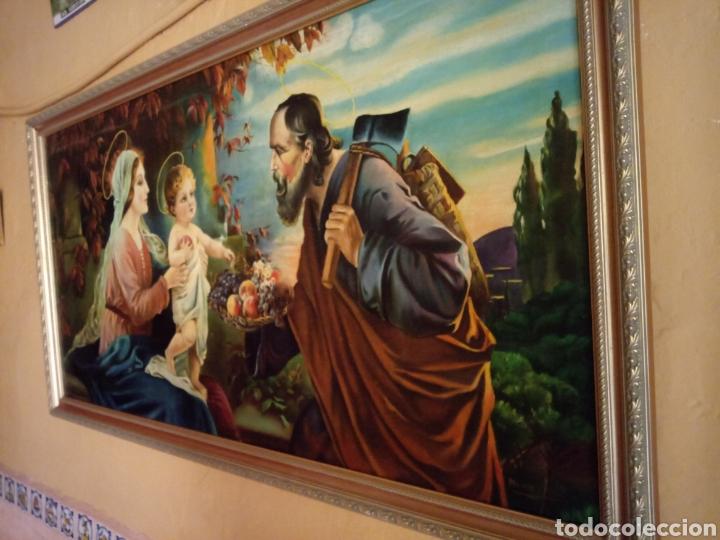 PRECIOSO CUADRO RELIGIOSO SAN JOSE ,VIRGEN MARIA Y EL NIÑO JESUS,NO SE ENVIA (Arte - Arte Religioso - Pintura Religiosa - Otros)