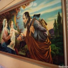 Arte: PRECIOSO CUADRO RELIGIOSO SAN JOSE ,VIRGEN MARIA Y EL NIÑO JESUS,NO SE ENVIA. Lote 151777790
