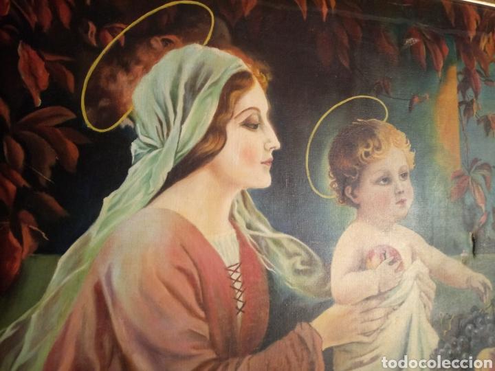 Arte: PRECIOSO CUADRO RELIGIOSO SAN JOSE ,VIRGEN MARIA Y EL NIÑO JESUS,NO SE ENVIA - Foto 2 - 151777790