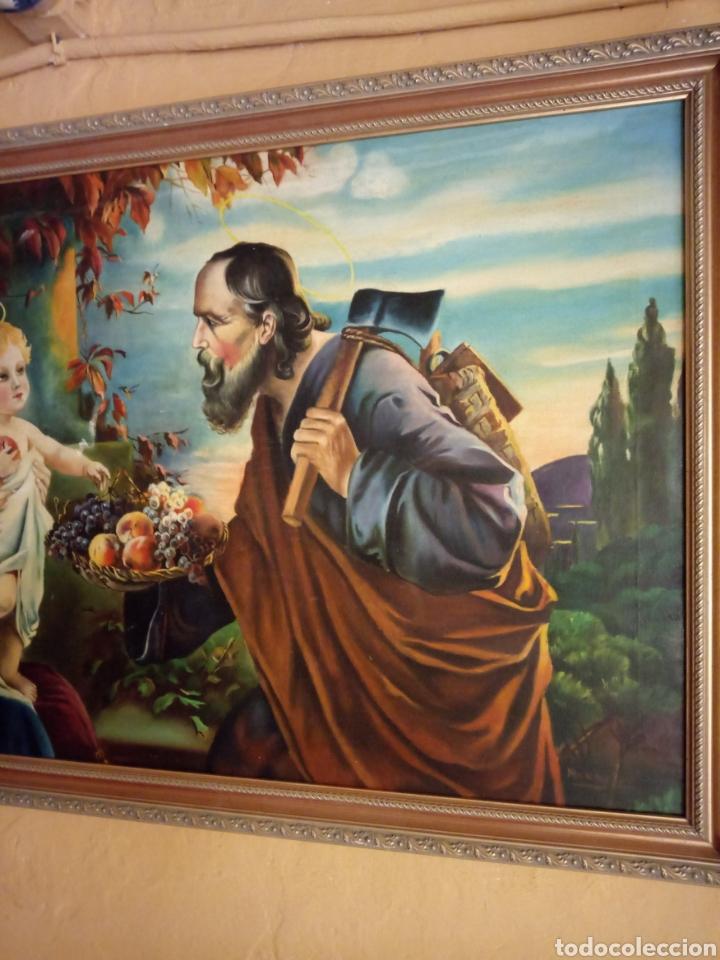 Arte: PRECIOSO CUADRO RELIGIOSO SAN JOSE ,VIRGEN MARIA Y EL NIÑO JESUS,NO SE ENVIA - Foto 3 - 151777790