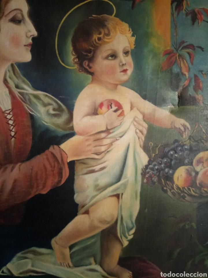 Arte: PRECIOSO CUADRO RELIGIOSO SAN JOSE ,VIRGEN MARIA Y EL NIÑO JESUS,NO SE ENVIA - Foto 4 - 151777790