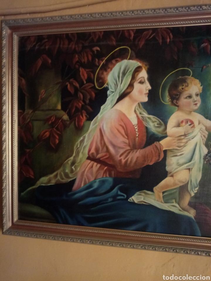 Arte: PRECIOSO CUADRO RELIGIOSO SAN JOSE ,VIRGEN MARIA Y EL NIÑO JESUS,NO SE ENVIA - Foto 5 - 151777790