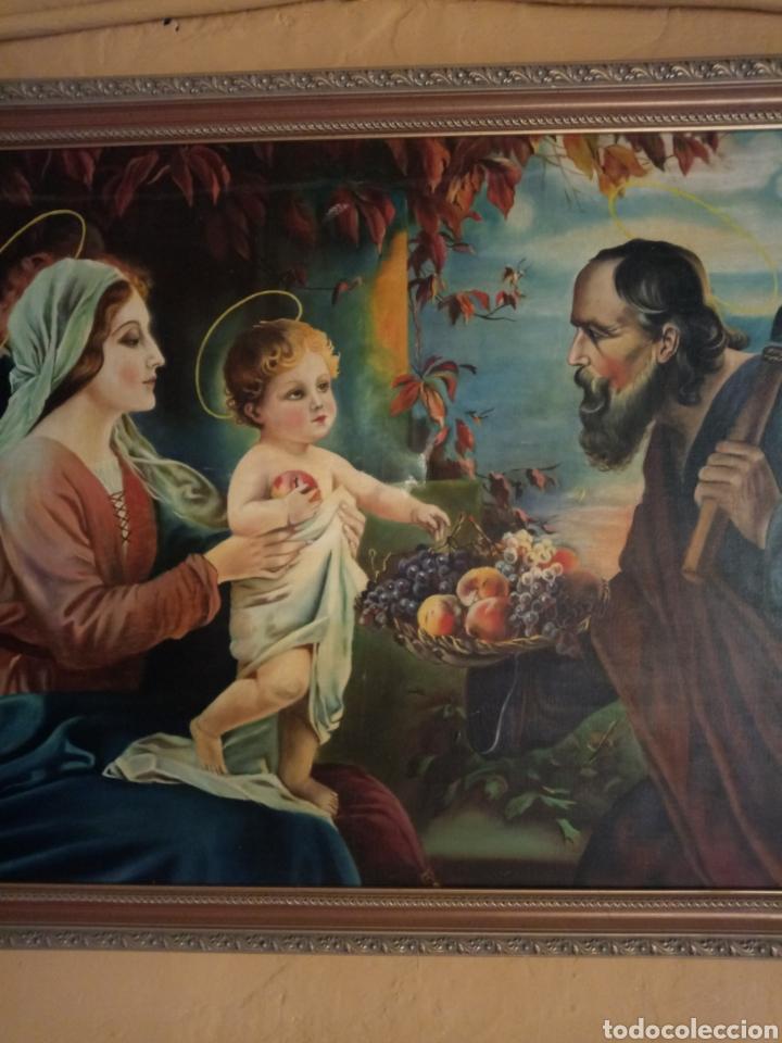 Arte: PRECIOSO CUADRO RELIGIOSO SAN JOSE ,VIRGEN MARIA Y EL NIÑO JESUS,NO SE ENVIA - Foto 10 - 151777790