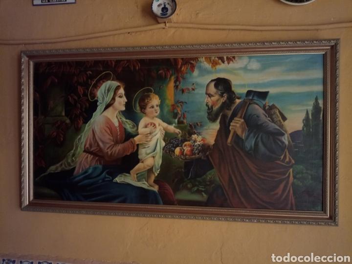Arte: PRECIOSO CUADRO RELIGIOSO SAN JOSE ,VIRGEN MARIA Y EL NIÑO JESUS,NO SE ENVIA - Foto 13 - 151777790