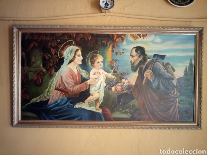 Arte: PRECIOSO CUADRO RELIGIOSO SAN JOSE ,VIRGEN MARIA Y EL NIÑO JESUS,NO SE ENVIA - Foto 17 - 151777790