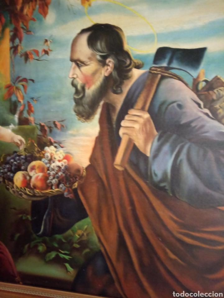 Arte: PRECIOSO CUADRO RELIGIOSO SAN JOSE ,VIRGEN MARIA Y EL NIÑO JESUS,NO SE ENVIA - Foto 18 - 151777790