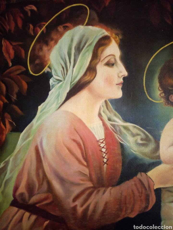 Arte: PRECIOSO CUADRO RELIGIOSO SAN JOSE ,VIRGEN MARIA Y EL NIÑO JESUS,NO SE ENVIA - Foto 20 - 151777790