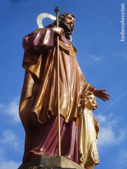 Arte: LAS ARTES RELIGIOSAS GRANDES MEDIDAS PARA ALTAR SAN JOSE CON NIÑO PASTA DE MADERA - Foto 10 - 151478166