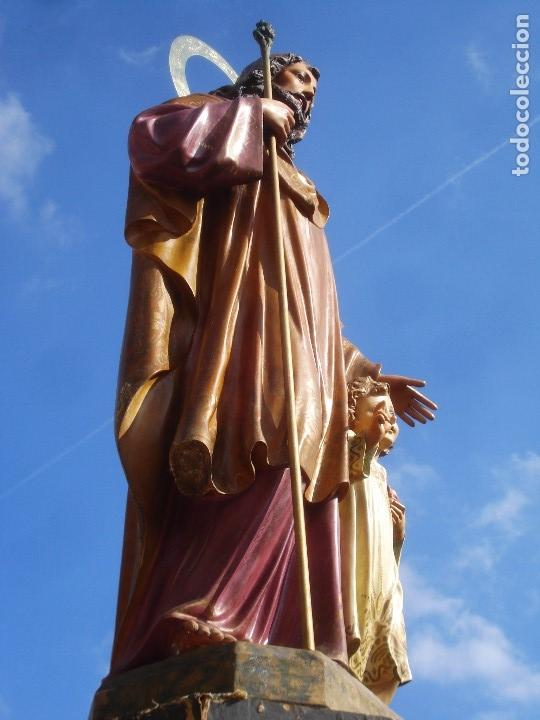 Arte: LAS ARTES RELIGIOSAS GRANDES MEDIDAS PARA ALTAR SAN JOSE CON NIÑO PASTA DE MADERA - Foto 6 - 151478166
