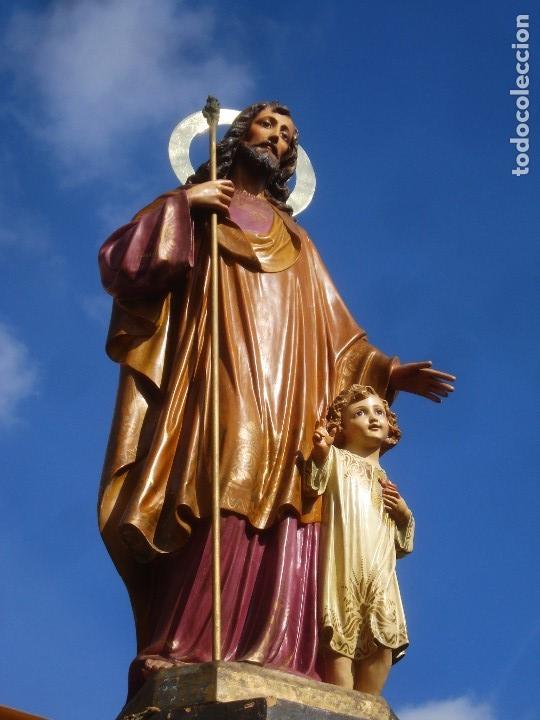 Arte: LAS ARTES RELIGIOSAS GRANDES MEDIDAS PARA ALTAR SAN JOSE CON NIÑO PASTA DE MADERA - Foto 19 - 151478166