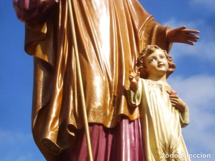 Arte: LAS ARTES RELIGIOSAS GRANDES MEDIDAS PARA ALTAR SAN JOSE CON NIÑO PASTA DE MADERA - Foto 3 - 151478166