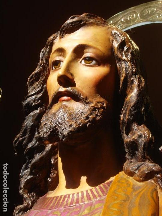LAS ARTES RELIGIOSAS GRANDES MEDIDAS PARA ALTAR SAN JOSE CON NIÑO PASTA DE MADERA (Arte - Arte Religioso - Escultura)