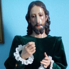 Arte: TALLA MADERA DE JESÚS EUCARÍSTICO, ESCUELA ANDALUZA XVIII-XIX.140 CMS DE ALTURA. . Lote 151880382