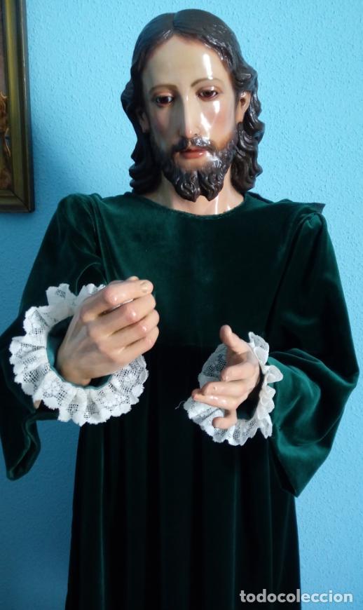 Arte: TALLA MADERA DE JESÚS EUCARÍSTICO, ESCUELA ANDALUZA XVIII-XIX.140 CMS DE ALTURA. - Foto 2 - 151880382