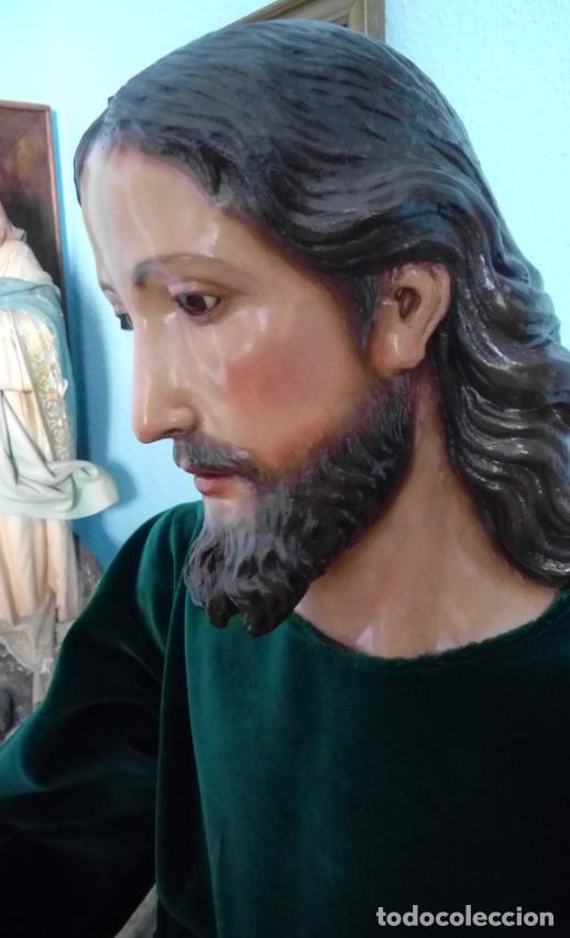 Arte: TALLA MADERA DE JESÚS EUCARÍSTICO, ESCUELA ANDALUZA XVIII-XIX.140 CMS DE ALTURA. - Foto 3 - 151880382