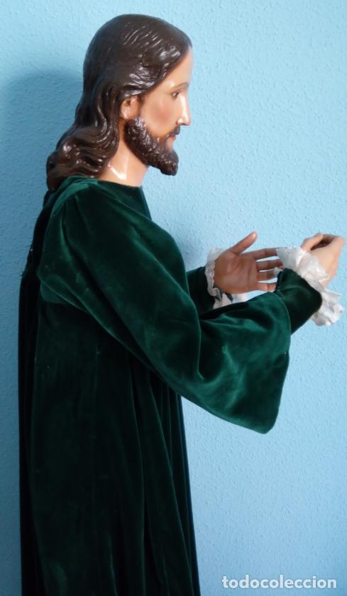 Arte: TALLA MADERA DE JESÚS EUCARÍSTICO, ESCUELA ANDALUZA XVIII-XIX.140 CMS DE ALTURA. - Foto 9 - 151880382