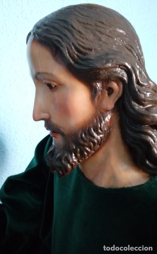 Arte: TALLA MADERA DE JESÚS EUCARÍSTICO, ESCUELA ANDALUZA XVIII-XIX.140 CMS DE ALTURA. - Foto 17 - 151880382