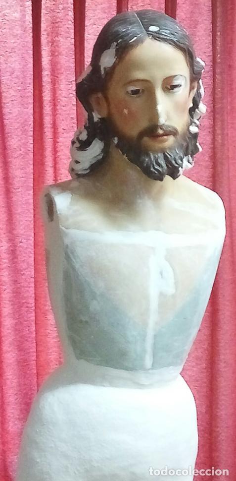 Arte: TALLA MADERA DE JESÚS EUCARÍSTICO, ESCUELA ANDALUZA XVIII-XIX.140 CMS DE ALTURA. - Foto 23 - 151880382