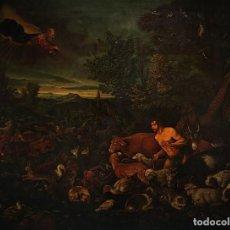 Arte: ADAN Y EVA EN EL PARAISO, ESC. FLAMENCA, COPIA MUSEO DEL PRADO???. Lote 152019374