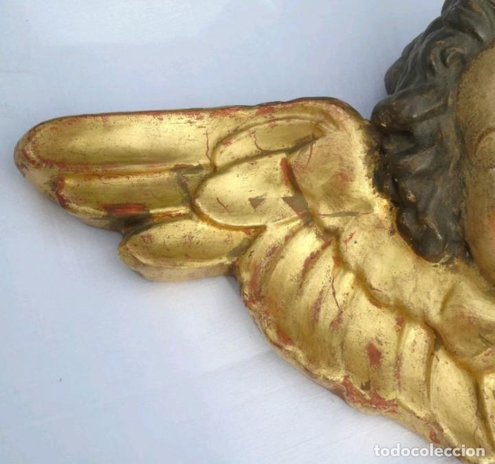 Arte: MUY BONITO ANGEL,QUERUBIN EN TERRACOTA POLICROMADA,CON CUÑO,S. XIX-XX - Foto 2 - 152036714