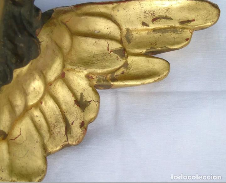 Arte: MUY BONITO ANGEL,QUERUBIN EN TERRACOTA POLICROMADA,CON CUÑO,S. XIX-XX - Foto 4 - 152036714