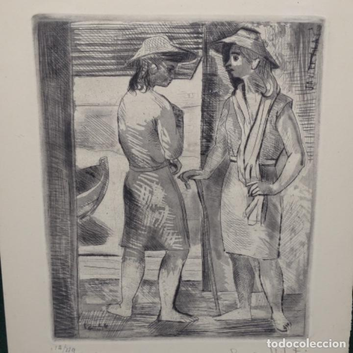 GRABADO AGUAFUERTE DE JAVIER VILATO(1921-1999) SOBRINO DE PICASSO.1945.12/49. (Arte - Arte Religioso - Grabados)