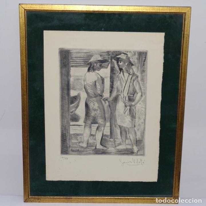 Arte: Grabado aguafuerte de Javier vilato(1921-1999) sobrino de picasso.1945.12/49. - Foto 2 - 152049930