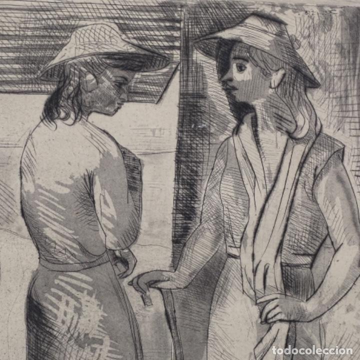 Arte: Grabado aguafuerte de Javier vilato(1921-1999) sobrino de picasso.1945.12/49. - Foto 3 - 152049930