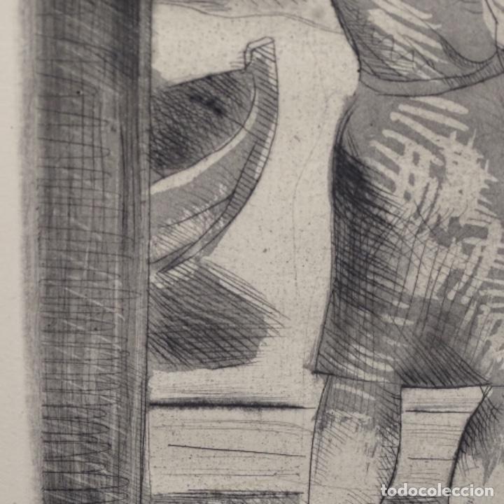 Arte: Grabado aguafuerte de Javier vilato(1921-1999) sobrino de picasso.1945.12/49. - Foto 4 - 152049930
